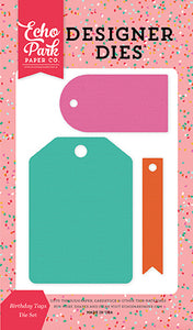 Echo Park Designer Dies - Party Time - Birthday Tags Set
