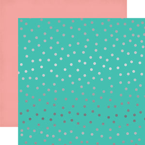 Echo Park Papers - Party Time - Random Dot Foil - 2 Sheets