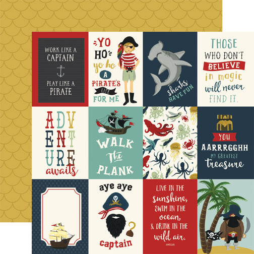 Echo Park Cut-Outs - Pirate Tales - 3x4 Journaling Cards