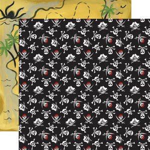 Echo Park Papers - Pirate Tales - Jolly Roger - 2 Sheets
