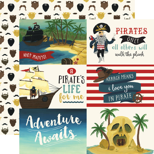 Echo Park Cut-Outs - Pirate Tales - 6x4 Horizontal Journaling Cards