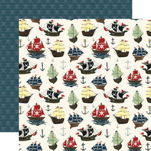 Echo Park Papers - Pirate Tales - Pirate Ships - 2 Sheets