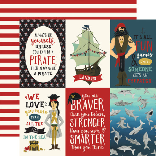 Echo Park Cut-Outs - Pirate Tales - 4x6 Vertical Journaling Cards