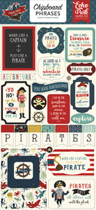 Echo Park Chipboard - Pirate Tales - Phrases