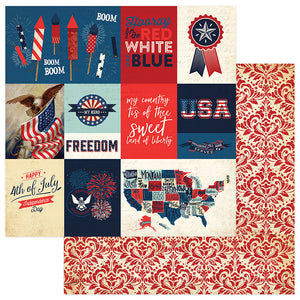 Photo Play Cut-Outs - Red, White, & Blue - Rocket's Red Glare