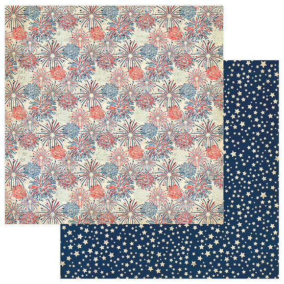 Photo Play Papers - Red, White, & Blue - Land of the Free - 2 Sheets