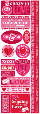 Reminisce Long Cardstock Stickers - Love Potion