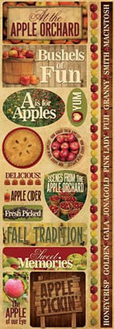 Reminisce Long Cardstock Stickers - Apple Orchard