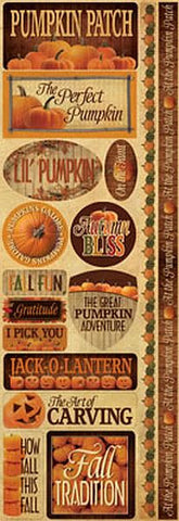 Reminisce Long Cardstock Stickers - Pumpkin Patch