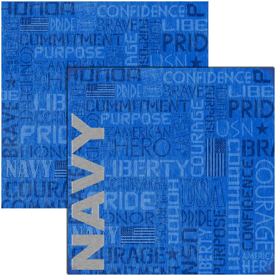 Reminisce Papers - Signature Series - Navy - Navy - 2 Sheets