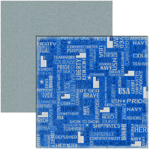 Reminisce Papers - Signature Series - Navy - USN - 2 Sheets