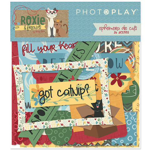Photo Play Ephemera Die Cuts - Roxie & Friends - Cat