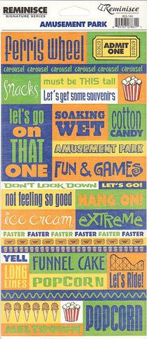 Reminisce Stickers - Amusement Park - Quotes