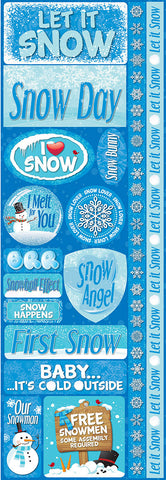 Reminisce Long Cardstock Stickers - Snowflakes - Combo