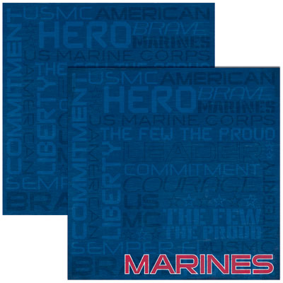 Reminisce Papers - Signature Series - Marines - Marines - 2 Sheets