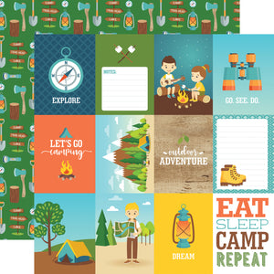 Echo Park Cut-Outs - Summer Adventure - 3x4 Journaling Cards