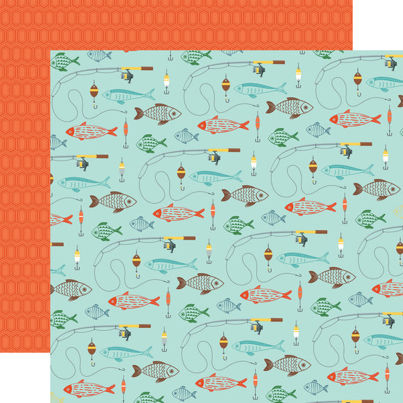 Echo Park Papers - Summer Adventure - Go See Fish - 2 Sheets