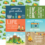 Echo Park Cut-Outs - Summer Adventure - 4x6 Journaling Cards