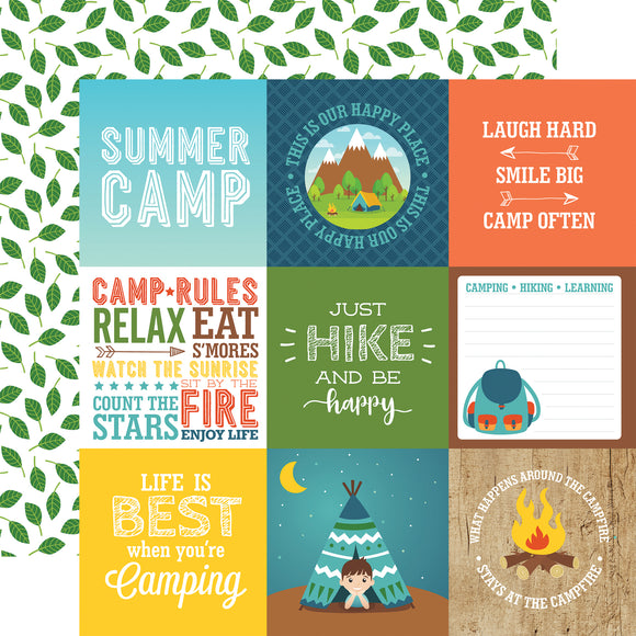 Echo Park Cut-Outs - Summer Adventure - 4x4 Journaling Cards