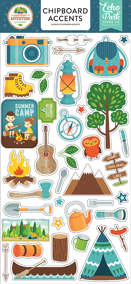 Echo Park Chipboard - Summer Adventure - Accents