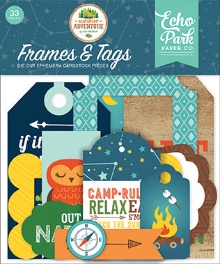Echo Park Frames & Tags Die-Cuts - Summer Adventure
