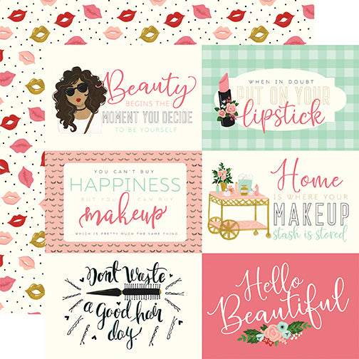 Echo Park Cut-Outs - Salon - 6x4 Horizontal Journaling Cards