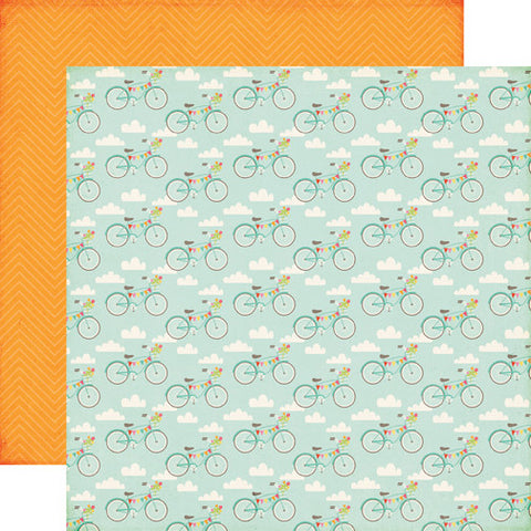 Echo Park Papers - Summer Bliss - Bicycle Bliss - 2 Sheets