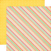 Echo Park Papers - Summer Bliss - Summer Stripes - 2 Sheets