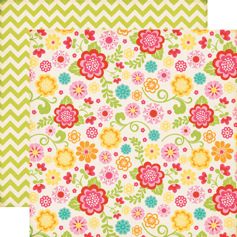 Echo Park Papers - Summer Bliss - Summer Floral - 2 Sheets