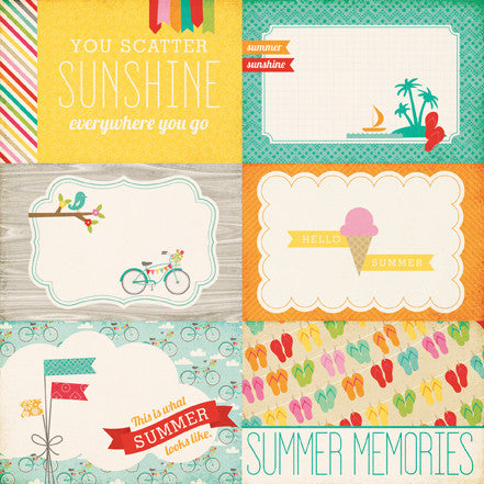 Echo Park Cut-Outs - Summer Bliss - Summer Memories