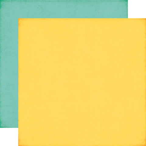 Echo Park Papers - Summer Bliss - Yellow/Blue - 2 Sheets