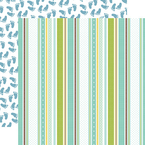 Echo Park Papers - Sweet Baby - Boy - Baby Boy Ribbons - 2 Sheets
