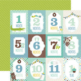 Echo Park Cut-Outs - Sweet Baby - Boy - Months Cards