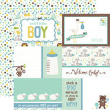 Echo Park Cut-Outs - Sweet Baby - Boy - Journaling Cards
