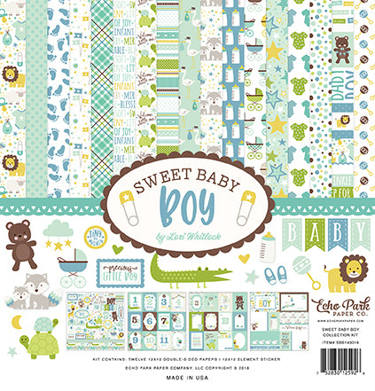 Echo Park Collection Kit - Sweet Baby - Boy