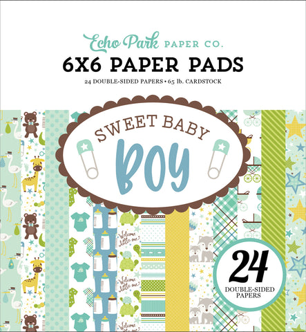 Echo Park 6x6 Pad - Sweet Baby - Boy