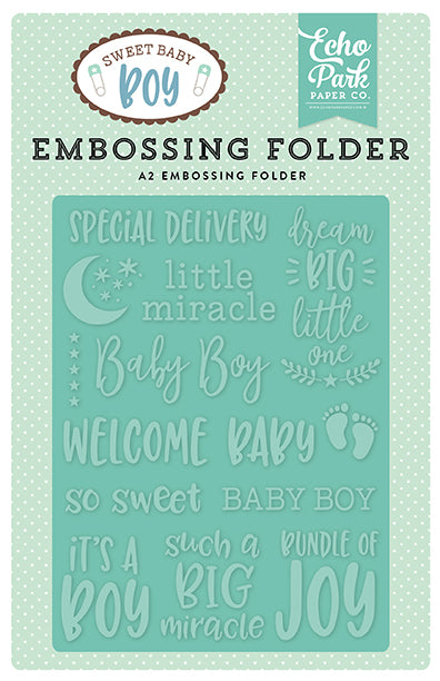 Echo Park Embossing Folder - Sweet Baby - Boy - Special Delivery