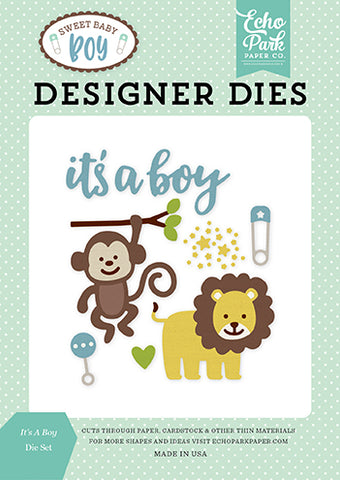 Echo Park Designer Dies - Sweet Baby - Boy - It's a Boy