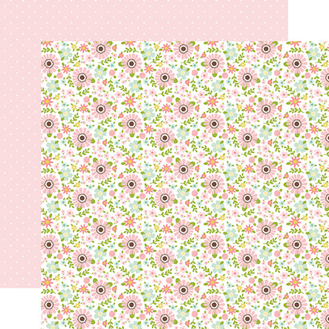 Echo Park Papers -Sweet Baby - Girl - Baby Floral - 2 Sheets