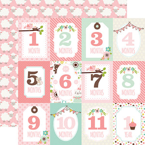 Echo Park Cut-Outs - Sweet Baby - Girl - Months Cards