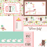Echo Park Cut-Outs - Sweet Baby - Girl - Journaling Cards