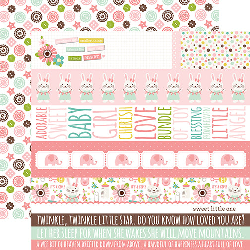 Echo Park Cut-Outs - Sweet Baby - Girl - Border Strips