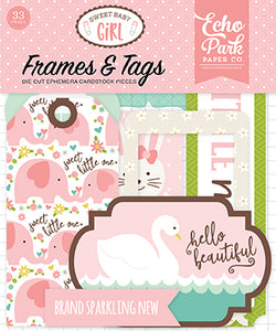 Echo Park Frames & Tags Die-Cuts - Sweet Baby Girl