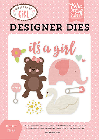 Echo Park Designer Dies - Sweet Baby Girl - It's a Girl