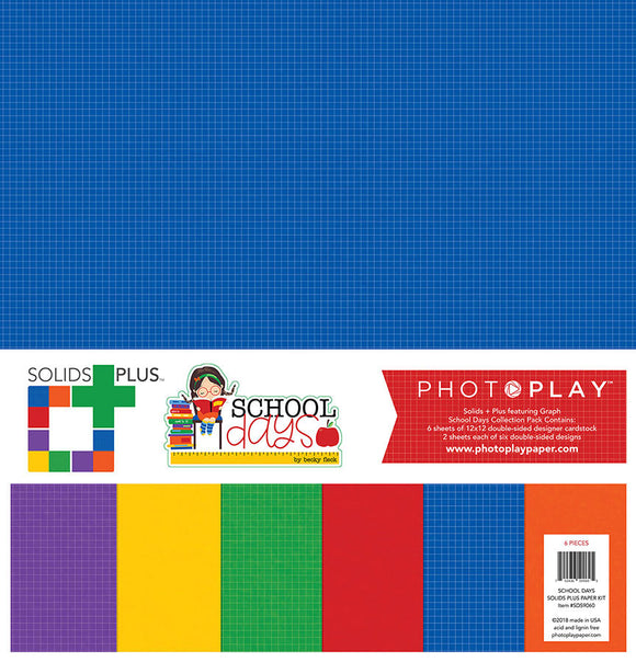 Photo Play Solids Plus Paper Pack - School Days - Paper Pack