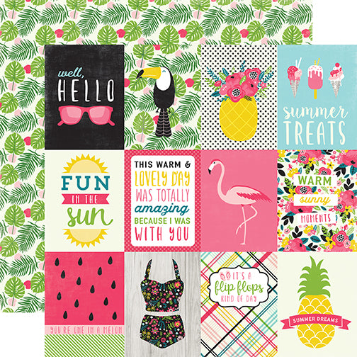 Echo Park Cut-Outs - Summer Fun - 3x4 Journaling Cards