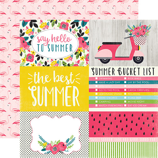 Echo Park Cut-Outs - Summer Fun - 4x6 Journaling Cards