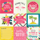 Echo Park Cut-Outs - Summer Fun - 4x4 Journaling Cards