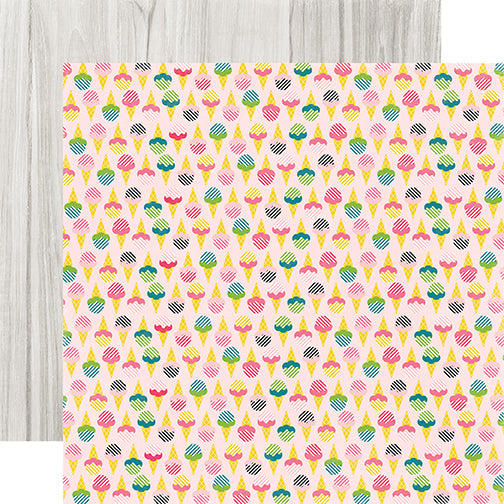 Echo Park Papers - Summer Fun - Sweet Treats - 2 Sheets