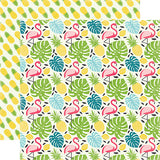 Echo Park Papers - Summer Fun - Flamingo & Palm - 2 Sheets